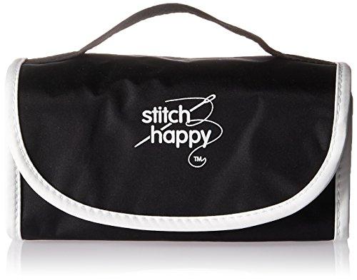 K1C2 Stitch Happy Fold-N-Go Notions Box, Black/White by K1C2
