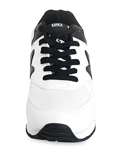 ROBIN Heel Sneakers Shoes High WHITE White Men's Elevator MNX15 3 Increase Sneakers 5