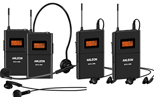 ANLEON MTG-100 Digital Wireless Tour Guide  Language Interpretation Systems Wireless Acoustic Transmission System Tour Guiding, Simultaneous Translation, Audio-visual Eduation Tour Guide System,travelling, Meeting, Museum Visiting, Coaching, Education, Wireless Synonous Translation , Tv Audio Listening , Wireless Headset System, Guide/ Church  System 902-927Mhz (1 Transmitter 3 Receivers)