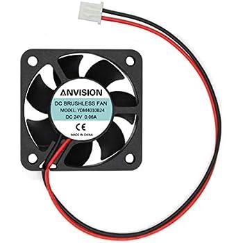 ANVISION DC 24V 40mm x 10mm Brushless Cooling Fan, Dual Ball Bearing, YDM4010B24