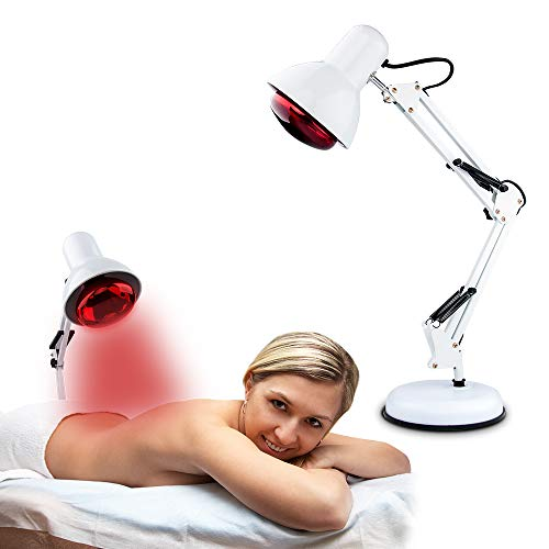 Red Light Therapy, Serfory Near Infrared Light Therapy Heat Lamp Set for Massage Skin Care Muscle Body Therapy Pain Relief with Improve Sleep Blood Circulation (Best Near Infrared Light Bulbs)