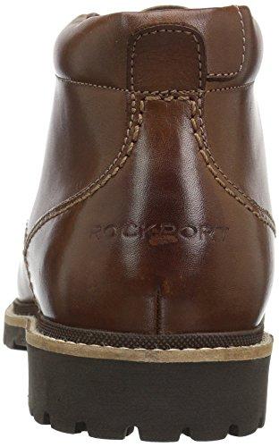 Rockport Mænds Marshall Chukka Chukka Boot Mørkebrun Læder Dgpj3lB