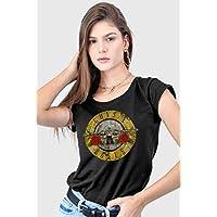 Camiseta Guns N' Roses Logo Bullet Feminina