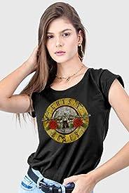 Camiseta Guns N' Roses Logo Bullet Femi