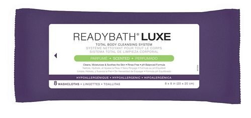 Medline MSC095102H ReadyBath LUXE Total Body Cleansing Heavyweight Washcloths, Scented (Pack of 24)