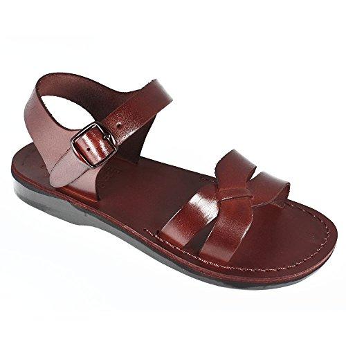 Echt Leder Braun Römer Sandalen Jesus#007 Größen, Gr.35- 46 EU