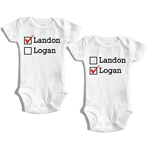 Amazon twins baby gift twin outfit twin baby clothes twin twins baby gift twin outfit twin baby clothes twin personalized outfit matching negle Image collections