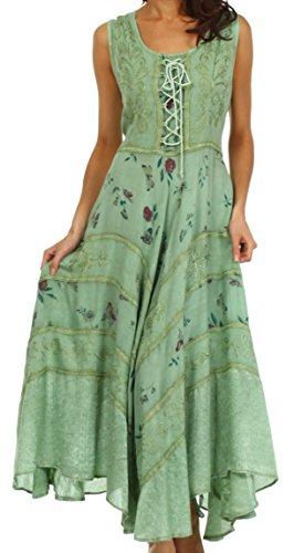 Sakkas 22311 Garden Goddess Corset Style Dress - Spearmint - 1X/2X
