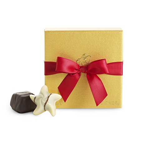 Godiva Chocolatier Holiday Favor Gold Ballotin Mini-Gift Box, Stocking Stuffer Gift, (Godiva Chocolate Favors)