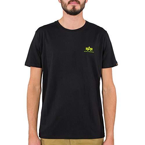ALPHA INDUSTRIES Herren Grundlegendes Logo T-Shirt, Schwarz