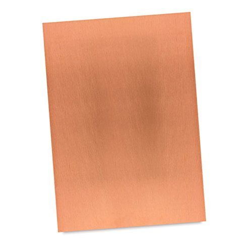 "Artist Copper Etching Plate Sheet - polished for Printing & Intaglio printmaking (2 x 3"")"