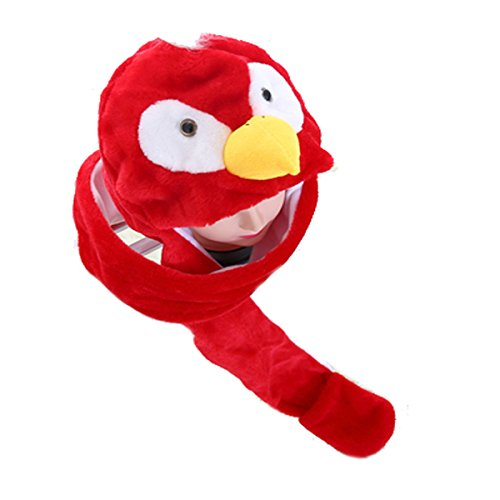[Funnie 21 Novelty Animal HAT Cosplay CAP - Unisex Fit Adult & Children- Soft Warm Headwraps Headwear with Mittens] (Parrot Head Hat)