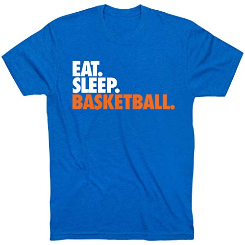 (Eat. Sleep. Basketball. T-Shirt | Basketball Tees by ChalkTalkSPORTS | Royal | Youth X-Large )