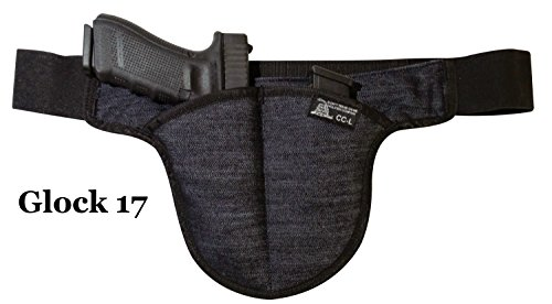 FAT MAN - Large DTOM Denim Possum Pouch Crotch Carry Holster - The smart way to carry! Fits LARGE gun size by Don't Tread on Me Conceal and Carry Holsters