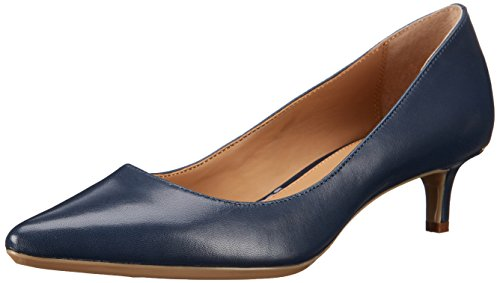 Pump Navy Leather - Calvin Klein Women's Gabrianna Pump, Navy Leather, 11 Medium us