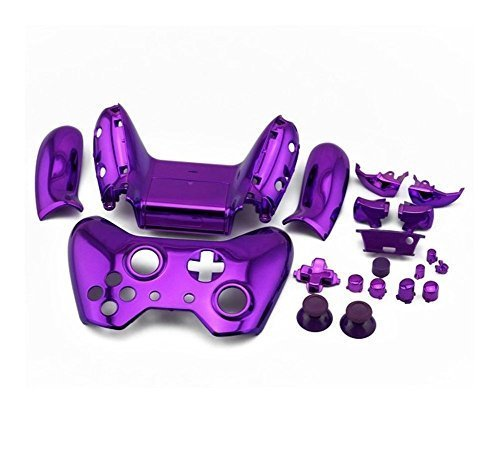 Gotor Shell Case Housing Cover + Buttons Set for Xbox One Controller Color  Purple Chrome