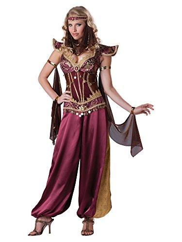 InCharacter Costumes Women's Desert Jewel Costume, Burgundy/Gold,