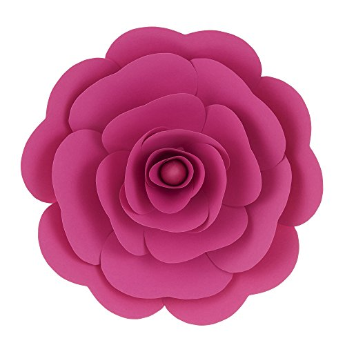 "Mega Crafts 16"" Handmade Paper Flower in Fuchsia 