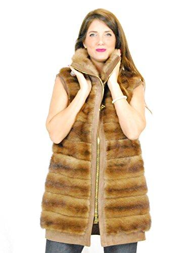 PELLICCEFUR 44 Dotted Horizontal Mink Fur with High Neck and Reindeer Pelliccia Visone Pelz nerz норка Fourrure Vison