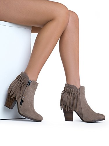 Heel 26 Beige Breckelle's Gail Boot Women's Ankle Stacked wUEP8xq