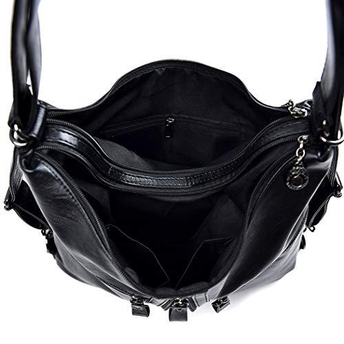Shoppers Carteras DEERWORD Mujer clutches hombro de Bolsos bolsos mano y y bandolera de Gris 58HndHTxr