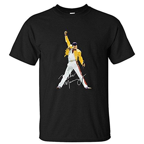 WPAD Men's Queen Band Freddie Mercury Autograph Sign T-shirt black XL
