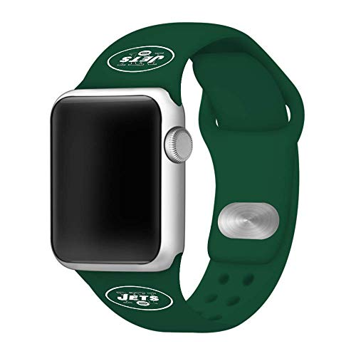 Game Time New York Jets Silicone Sport Band Compatible with Apple Watch - Band ONLY (38mm/40mm)