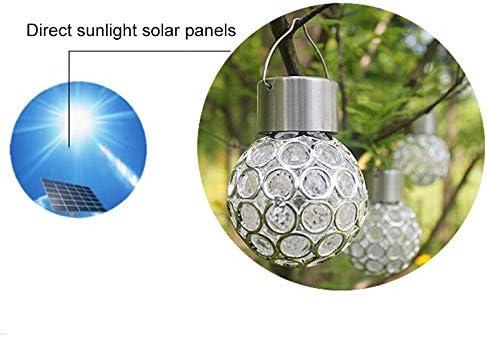 GRANDLIN 2 Pcs Hanging Solar Lights Outdoor Color Changing LED Ball Lamp Solar Lanterns for Garden Yard Patio