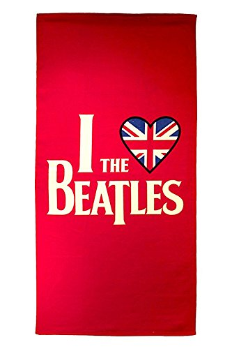 Bravado Beatles Heart Beatles 28'' X 58'' 100Percent Cotton Beach/Bath/pool Towel
