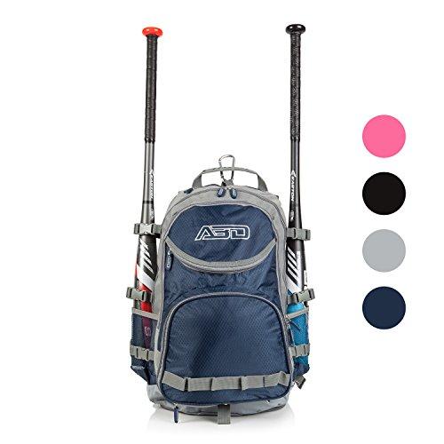 Team Baseball & Softball Bag, School, Travel & Overnight 9 Compartment Bat Pack On Sale (NAVY/Gry)