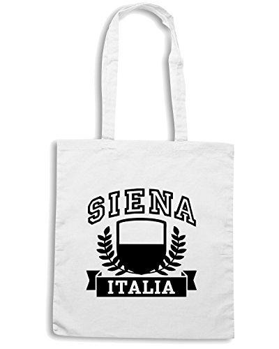 T-Shirtshock - Bolsa para la compra TSTEM0088 siena italia Blanco
