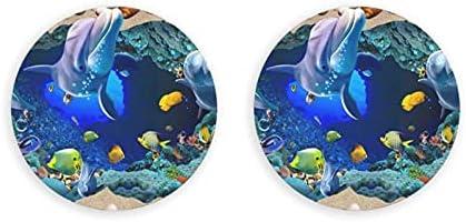 Abrebotellas redondas de delfines del mundo submarino 3d / imanes de nevera sacacorchos de acero inoxidable pegatina magnética 2 piezas