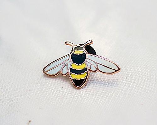 (Honey Bee Enamel Pin - Lapel Pin - Badge)