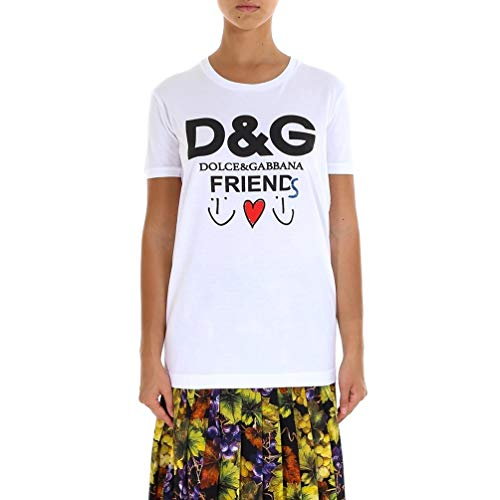 Cotton Shirt Dress & Gabbana Dolce (Dolce e Gabbana Women's F8k74zfh74ihwu04 White Cotton T-Shirt)
