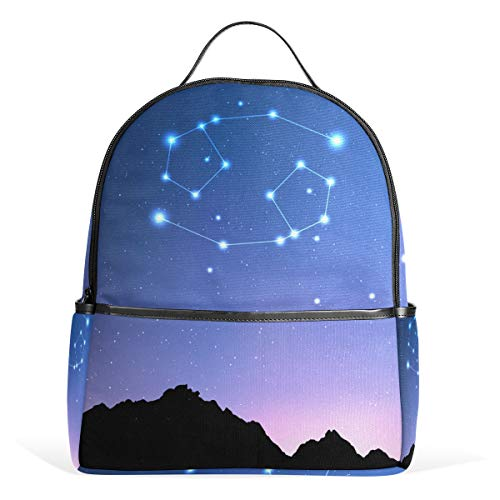 Zodiac Diaper Cover - La Random Canser Zodiac Constellations Backpack School Bag Large Travel Daypack