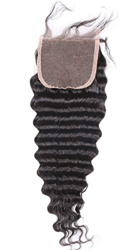 HC hcremyhair Deep Wave Closure 10 Inch Free Part Brazilian Virgin Human Hair Lace Closure 4x4 with Baby Hair Silky Soft Natural Color Promotion 6% OFF