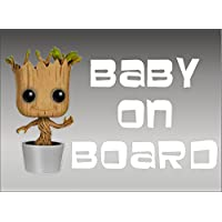 Groot Baby on Board, decal, vinyl, sticker, graphic