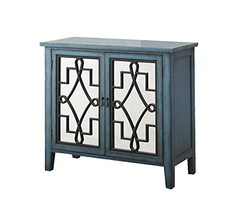 ACME Kacia Antique Light Blue Console Table