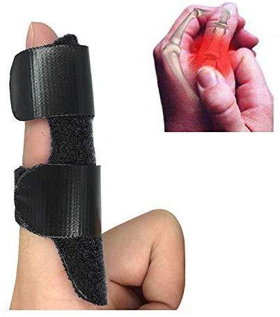 Trigger Finger Splint, Corpower Finger Brace/Finger Straightening Brace/Trigger Finger Brace, Adjustable Fixing Belt with Built-in Aluminium Support for Finger Tendon Release & Pain Relief (Black)