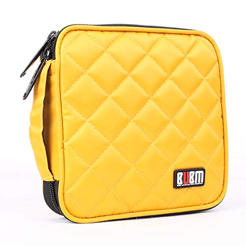 (BUBM Car Home Travel Portable 32 Capacity CD/DVD Wallet, 230D Space Twill Cover/Bag/Case (Yellow))