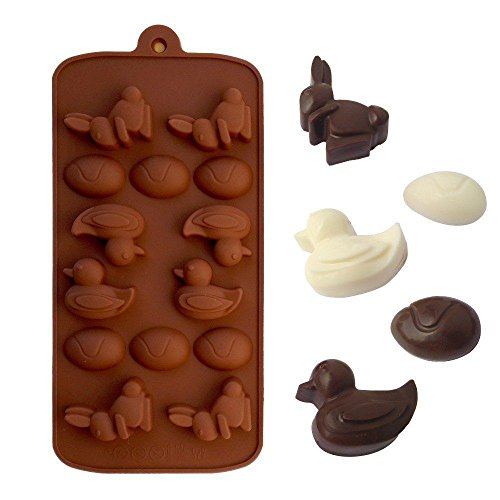 EASTER Silicone Mold Chocolate Ice Cube Tray Fondant Molds D