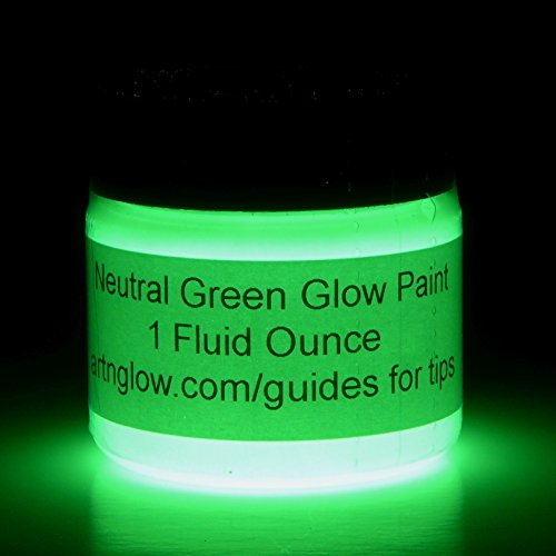 Glow In The Dark Paint - Premium Artist's Acrylic - 1 Ounce (Neutral Green) (Dance Costumes Purchase)
