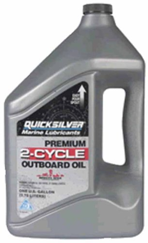 Engines Mercury Marine Outboard (OEM Quicksilver Premium 2-Stroke Engine Oil, TC-W3, 1 Gallon 92-858022Q01)