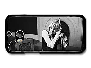 AMAF ? Accessories Courtney Love Black and White Portrait Holding Guitar case for HTC One M8 by mcsharks