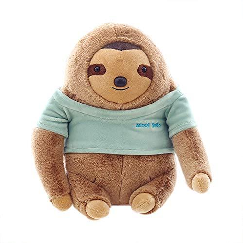 ❤️Yanvan❤️Plush Toy,Yanvan Cartoon Plush Toys Kawaii Sloth Soft Dolls Children Baby Animal Kid Toys Cute (Green)