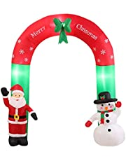 Inflatable Christmas Decorations Santa Snowman with LED Light Xmas Party Outdoor Bestbuds 2.4m