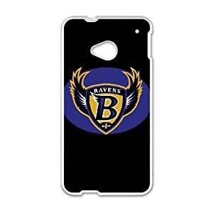 Baltimore Ravens Team Logo HTC One M7 Cell Phone Case White persent zhm004_8441553