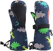 BAVST Baby Winter Waterproof Mittens for Infants Toddler Boys Girls Ski Snow Gloves Kids Teens 2-6T