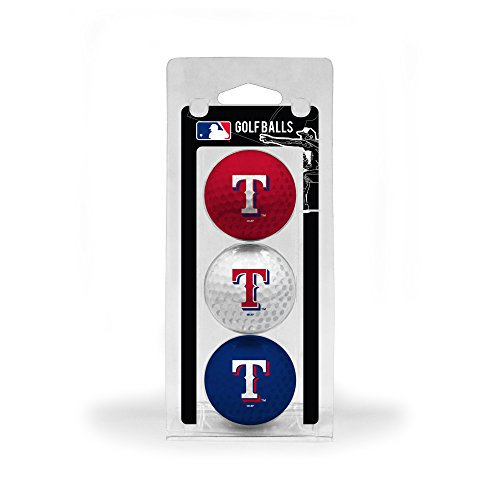 - Team Golf MLB Texas Rangers Regulation Size Golf Balls, 3 Pack, Full Color Durable Team Imprint