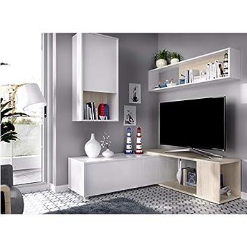 HABITMOBEL Mueble de salón Moderno Flexible, Dimensiones ...